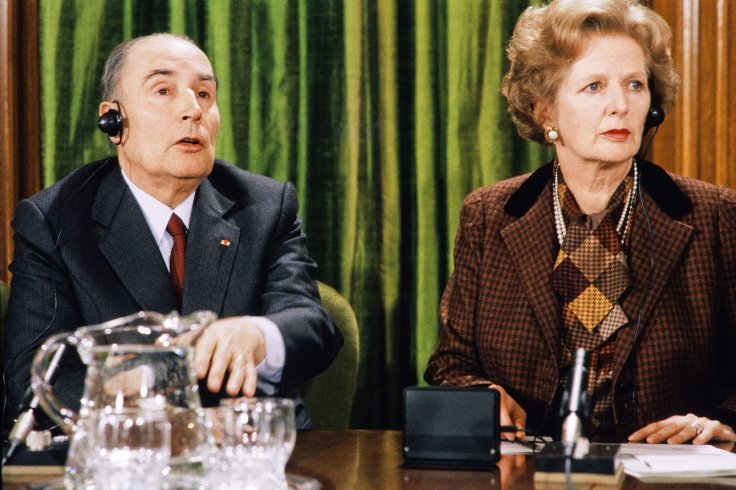 Francois Mitterrand and Margaret Thatcher