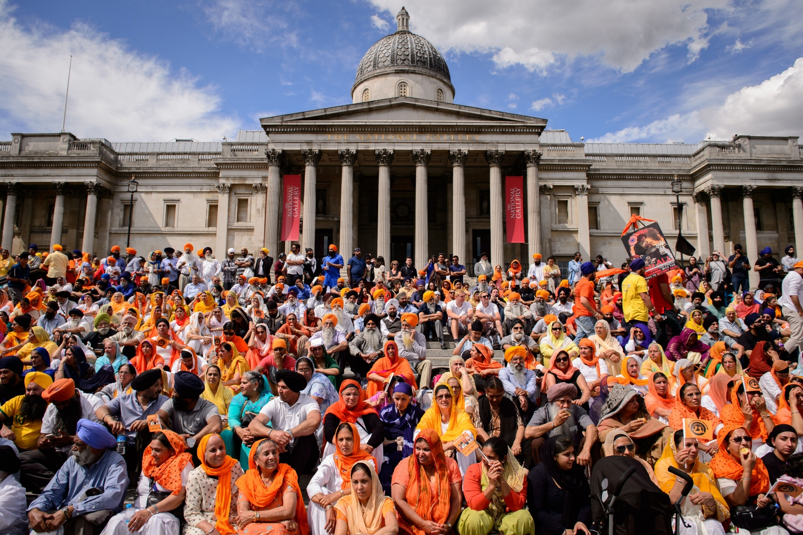Sikh protest in London