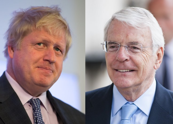 Boris Johnson and John Major