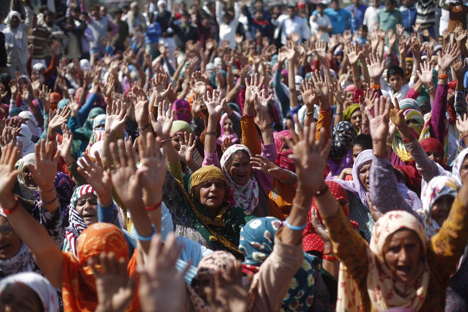 Jat community protest