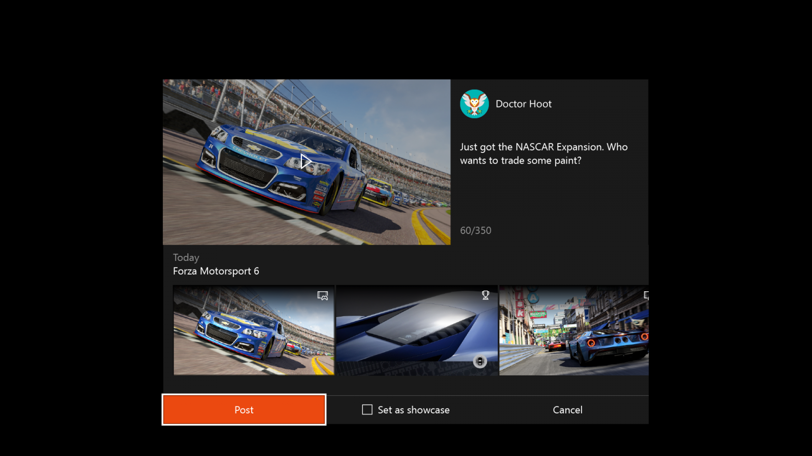Xbox One Anniversary Dashboard