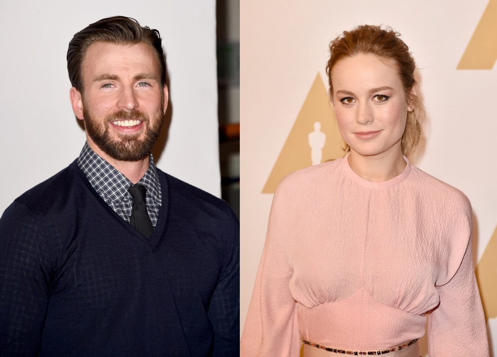 Chris Evans and Brie Larson