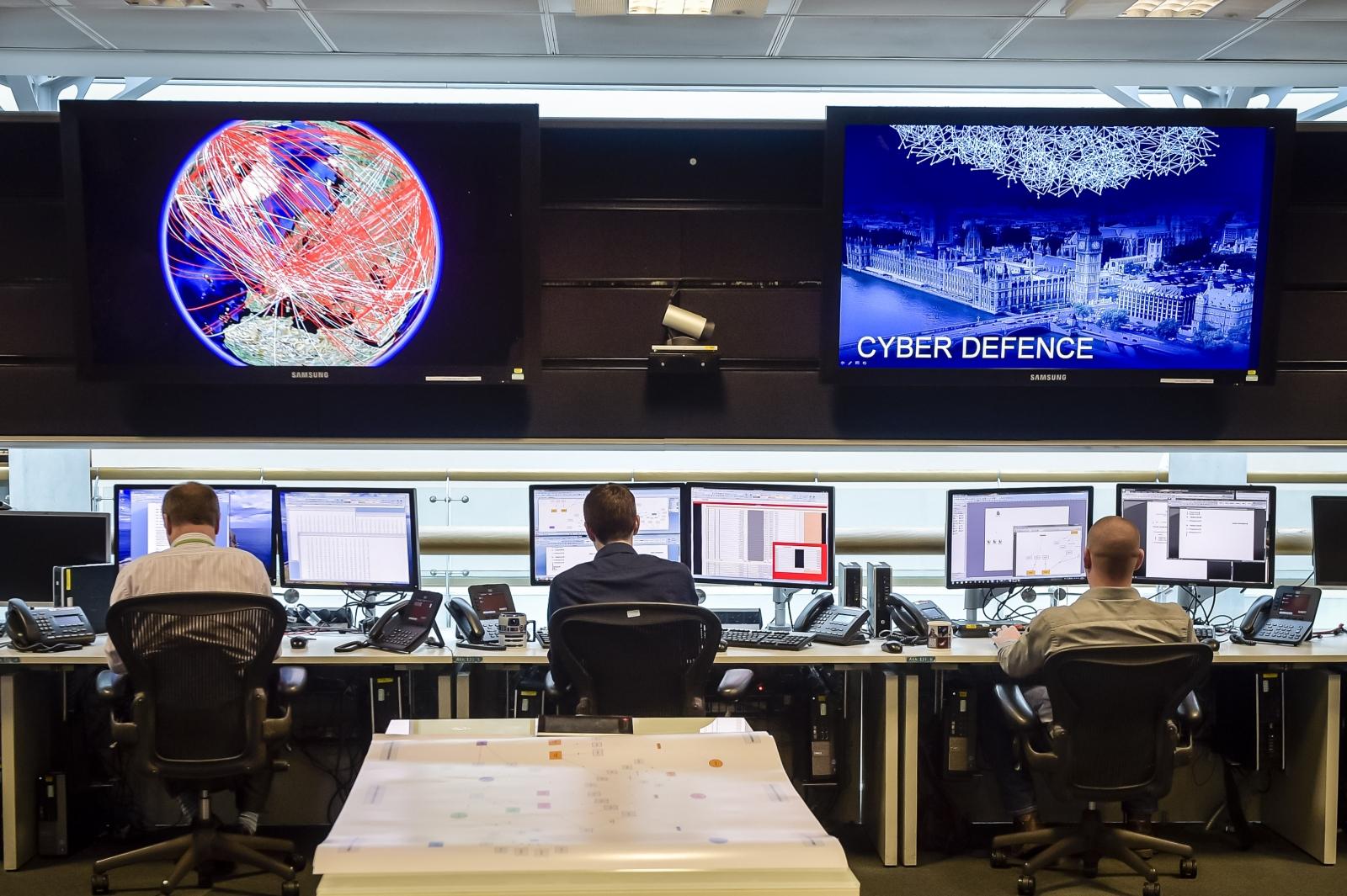 GCHQ cyber defense room