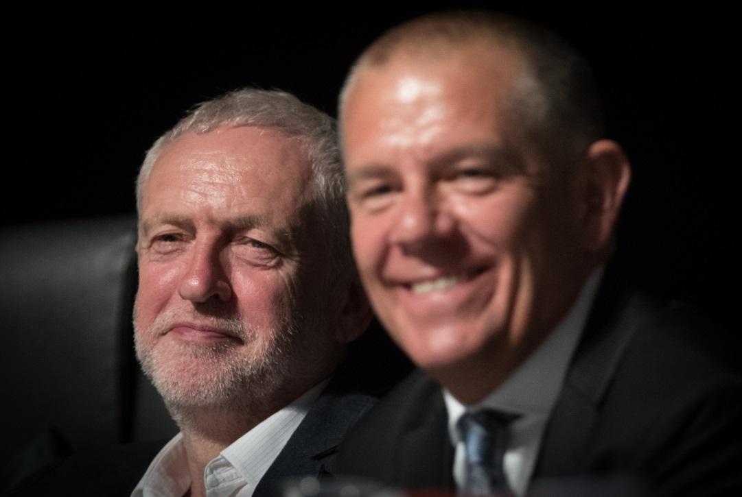 Jeremy Corbyn and Tim Roache