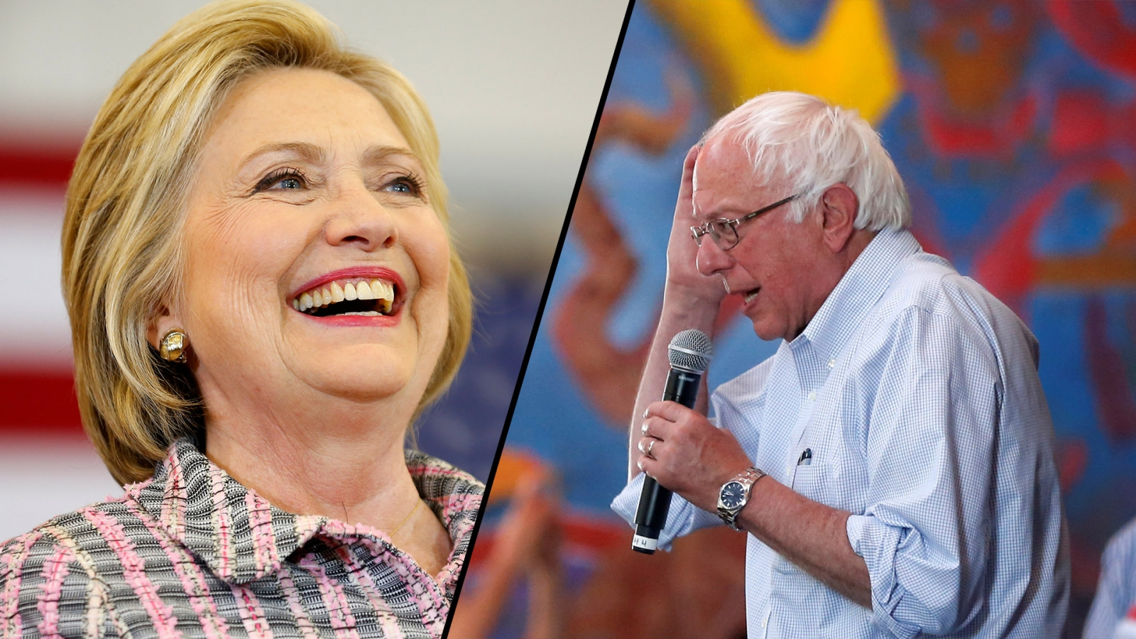 Sanders and Clinton almost tied before California