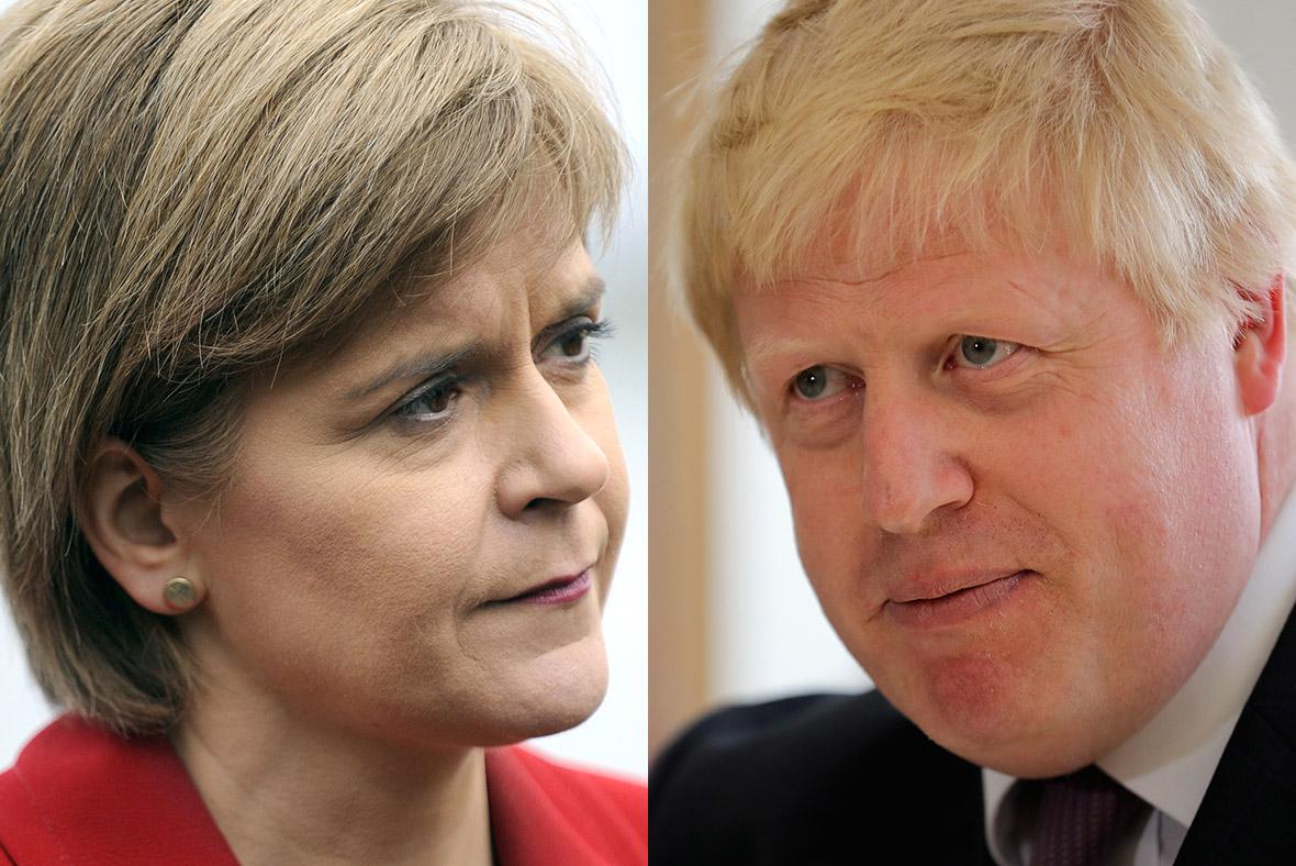 Nicola Sturgeon, Boris Johnson