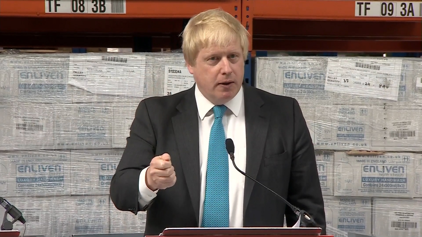 Boris Johnson gives Leave speech