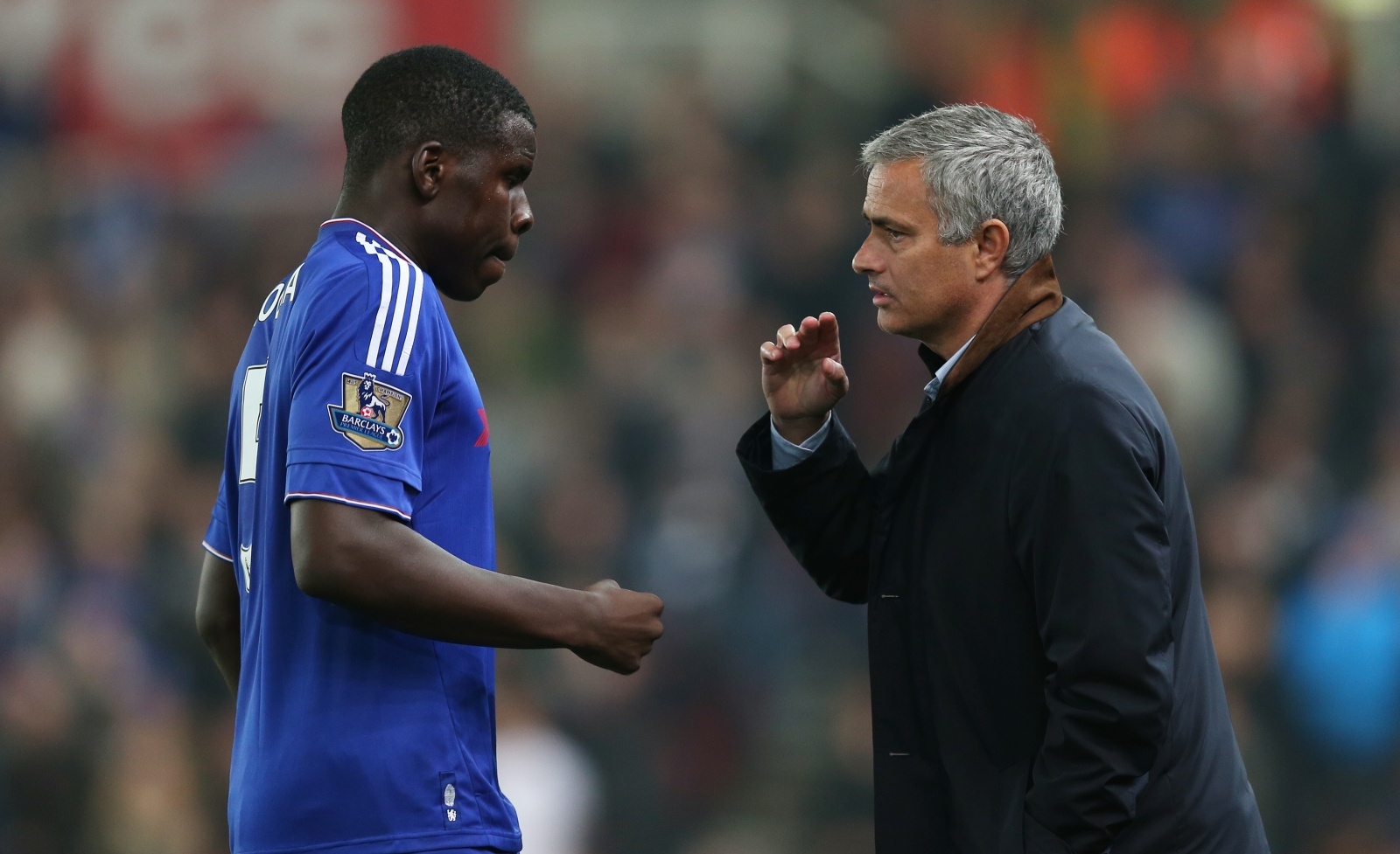 Kurt Zouma and Jose Mourinho