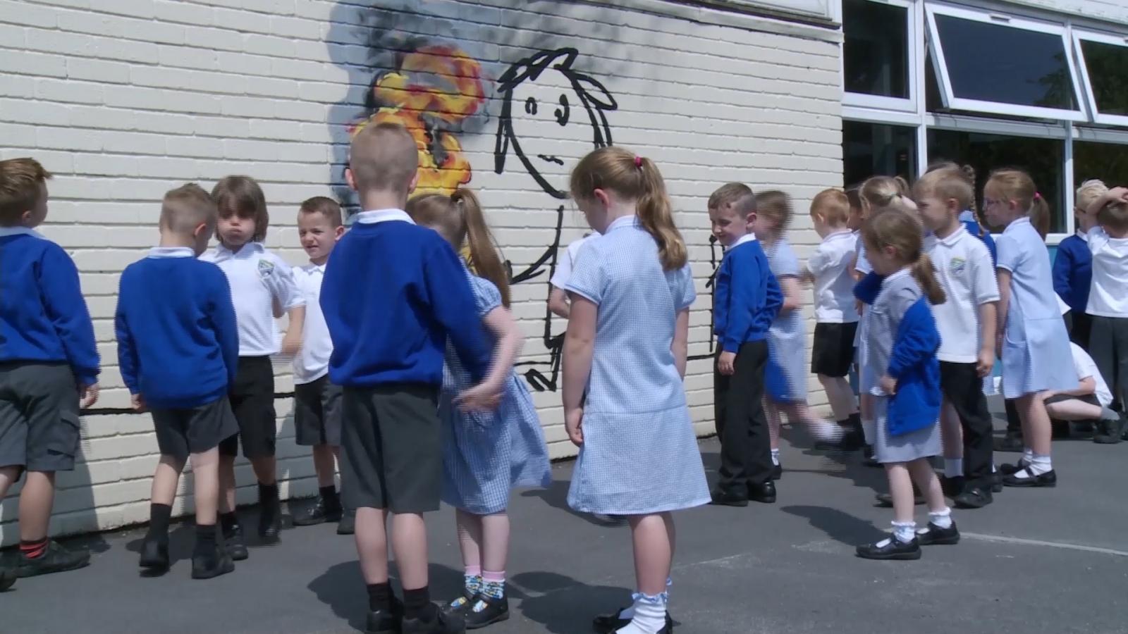 Banksy surprises primary school