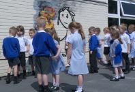 Banksy surprises primary school