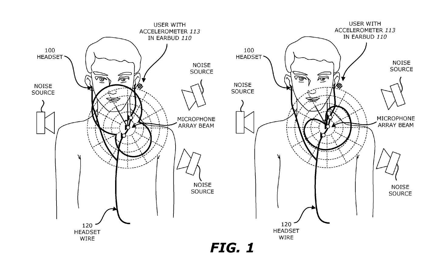 Apple Patent noise cancelling headphone patent