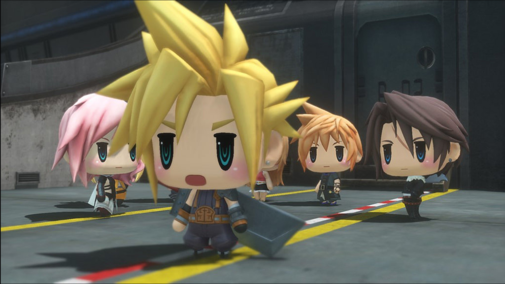 World of Final Fantasy Cloud Lightning Squall