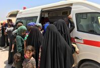 Thousands of refugee have fled the fightingFallujah