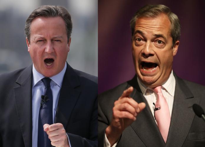 David Cameron and Nigel Farage EU debate