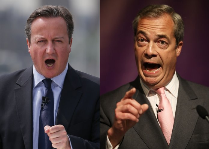 David Cameron and Nigel Farage EU debate
