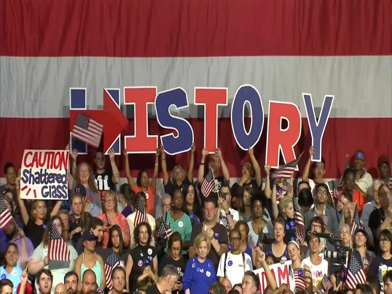 Hillary Clinton declares nominee victory
