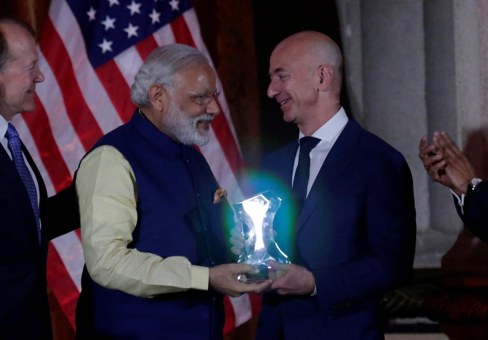 Amazon India Jeff Bezos Narendra Modi