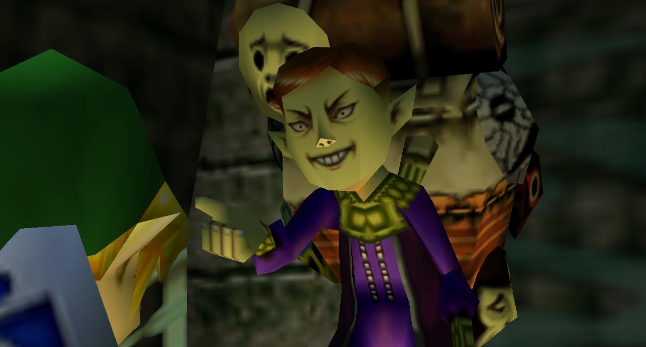 Legend of Zelda Majora's Mask mask salesman