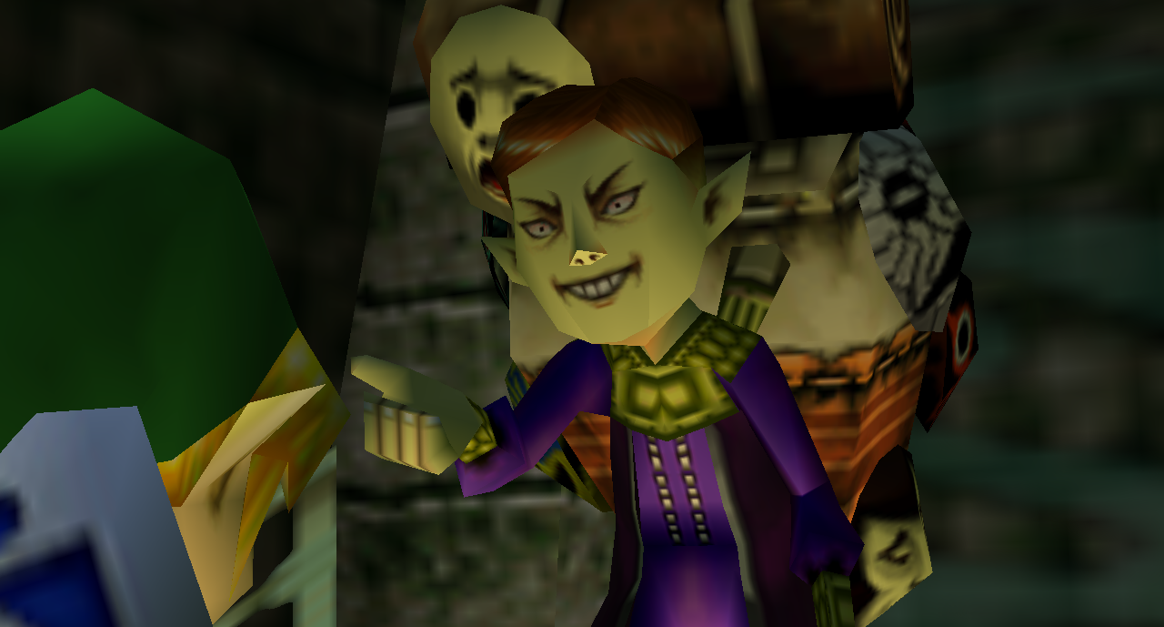Legend of Zelda Majora's Mask mask salesman