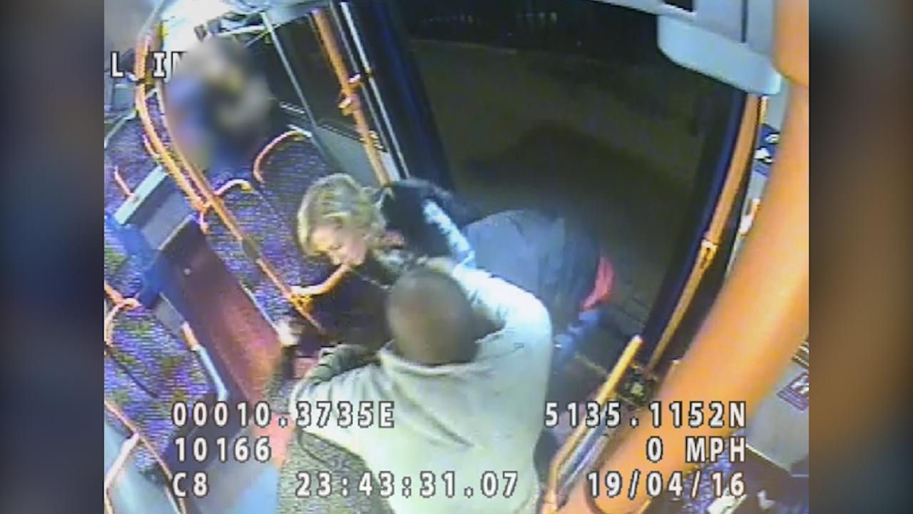 CCTV footage of hair drag assault