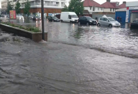Flash flooding hit parts of the UK for a second day in a row