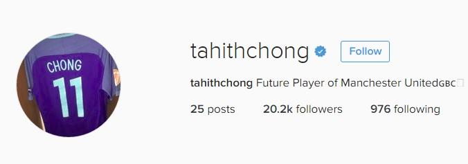 Tahith Chong Instagram