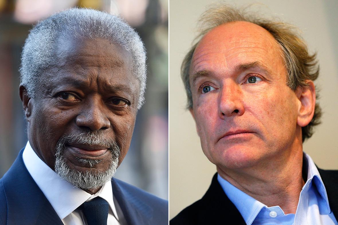 Kofi Annan, Tim Berners-Lee