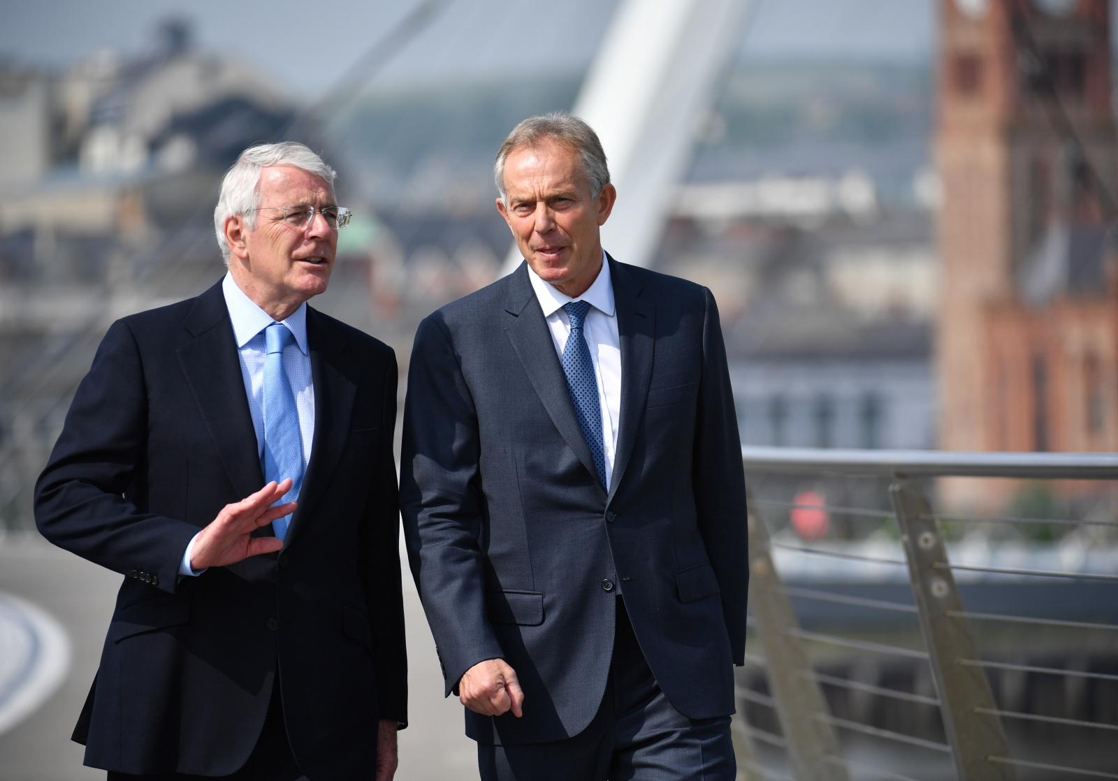 John Major and Tony Blair