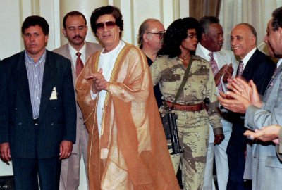 Moammar Gadhafi and Lady Gaga