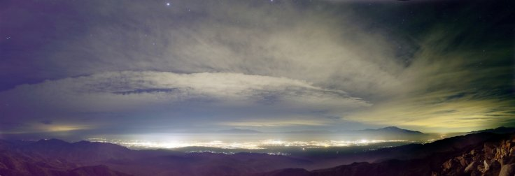 light pollution sky