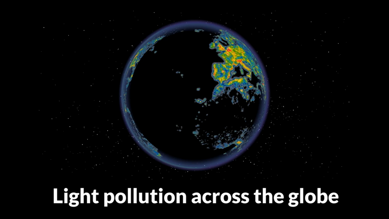 Light pollution across the globe