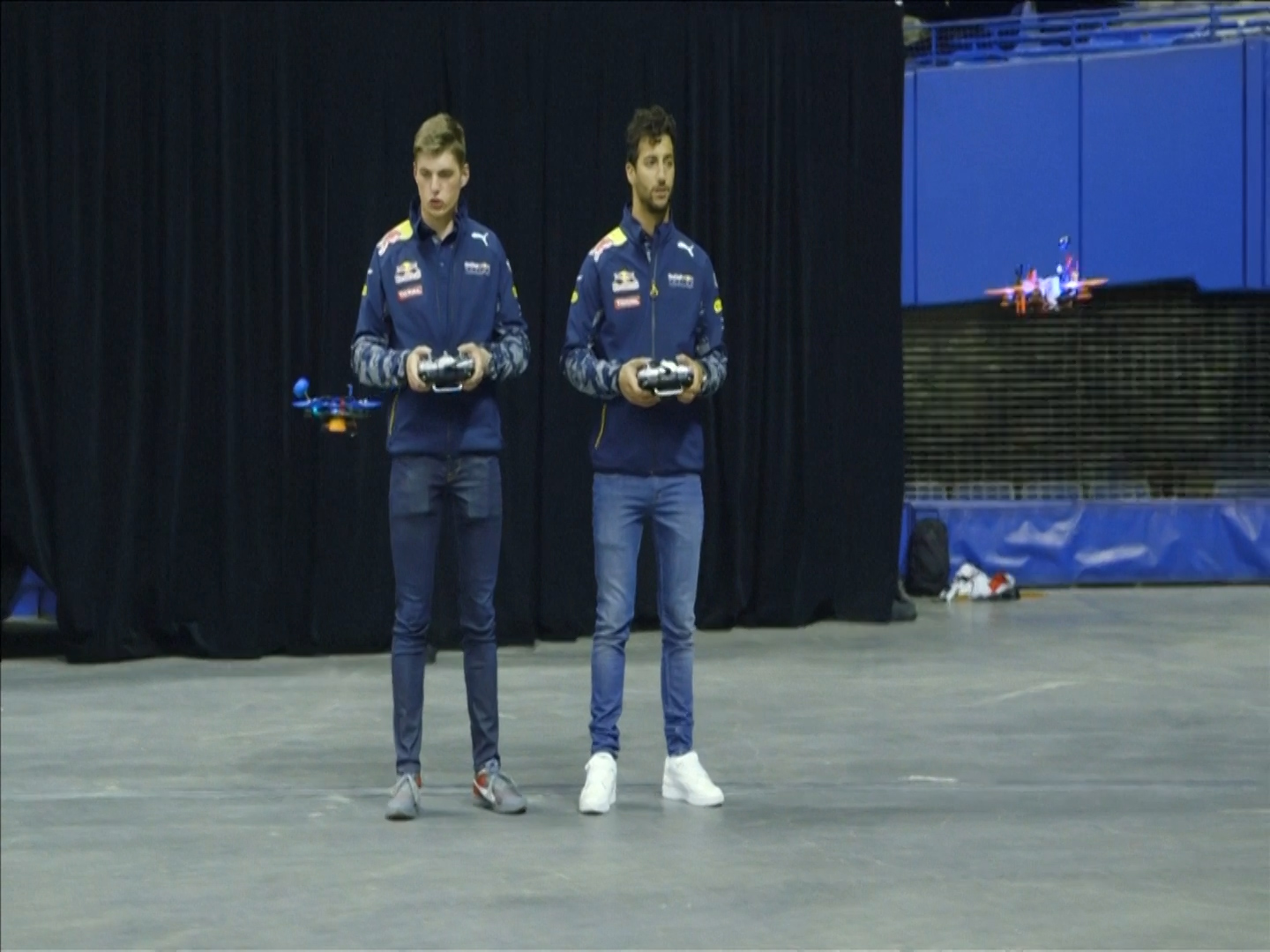 Red Bull drivers drone race