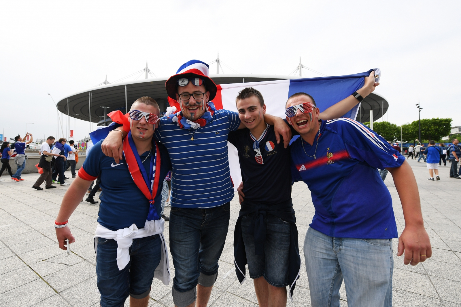 France fans before the game in Paris