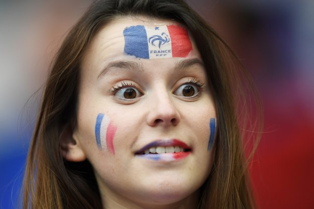 A French fan before kick off