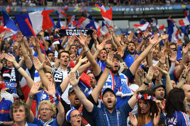 French fans get ready to party