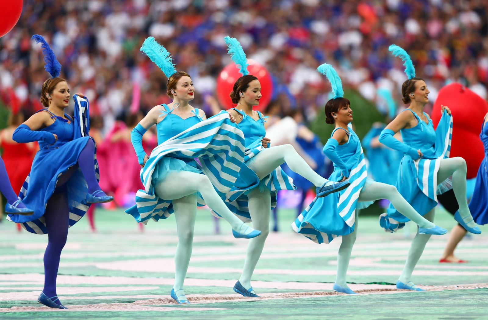 Dancers on the pitch