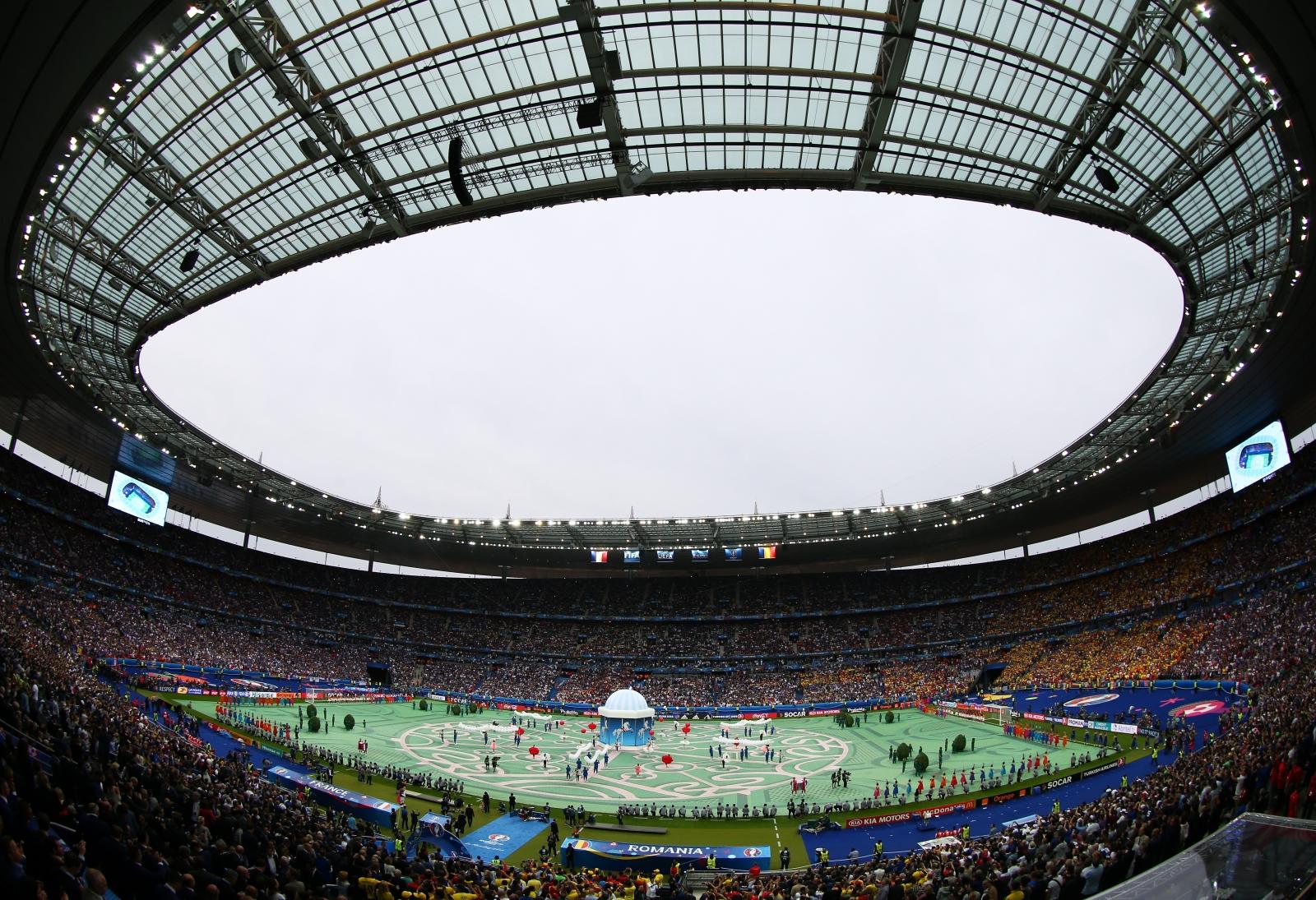 The scene inside the Stade de France
