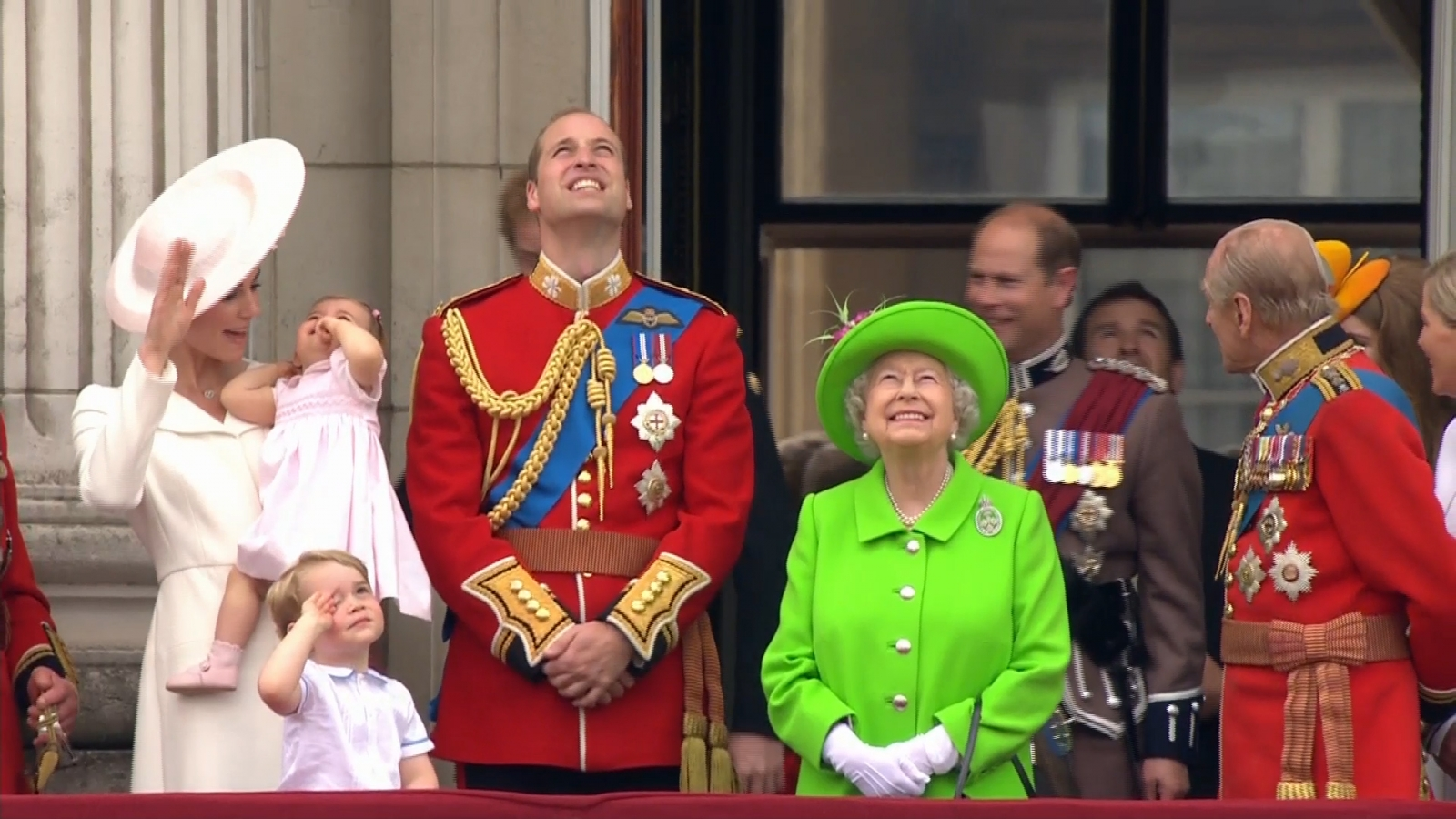 Royals watch the RAF flypast