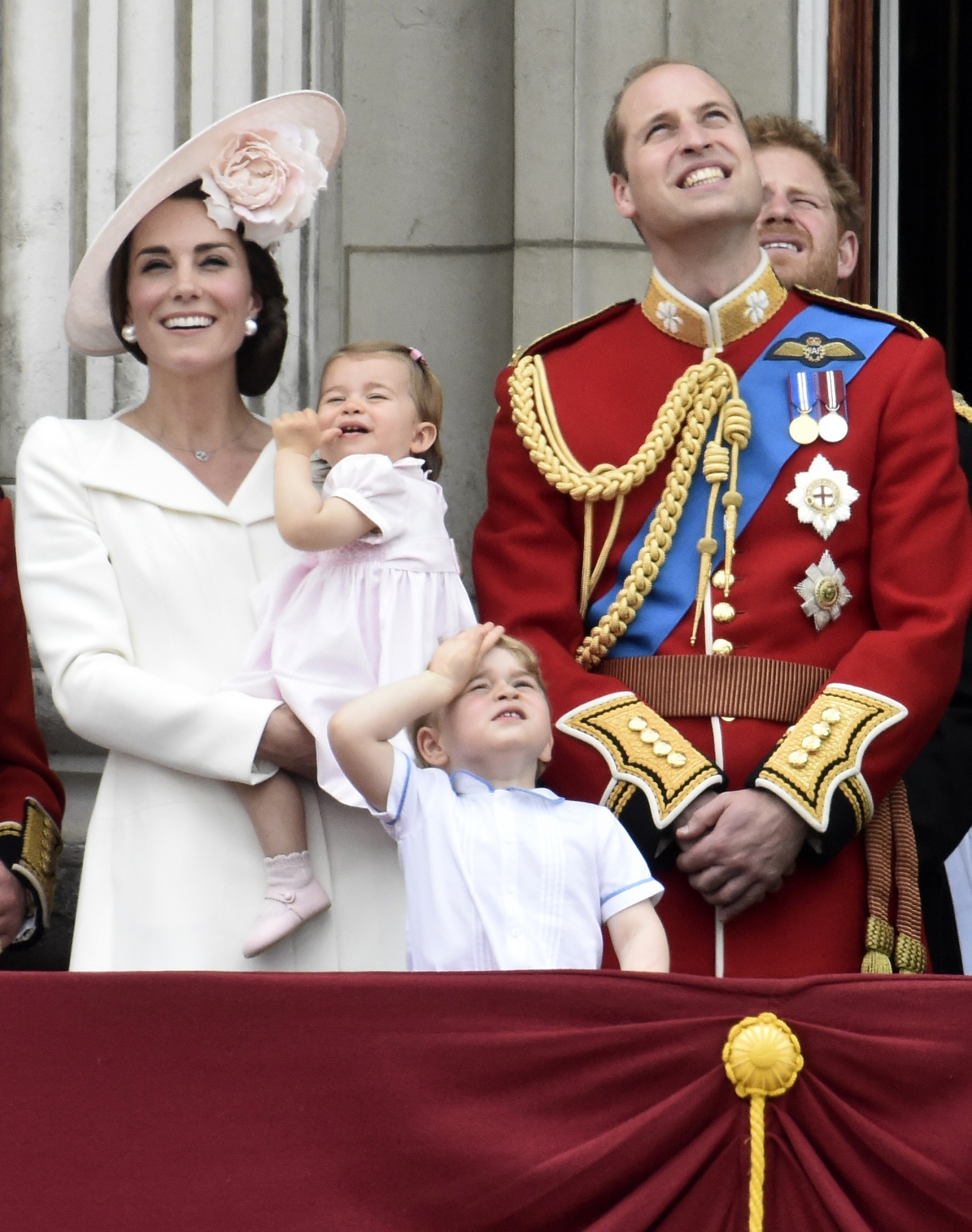 Catherine, Duchess of Cambridge holding Princess Charlotte