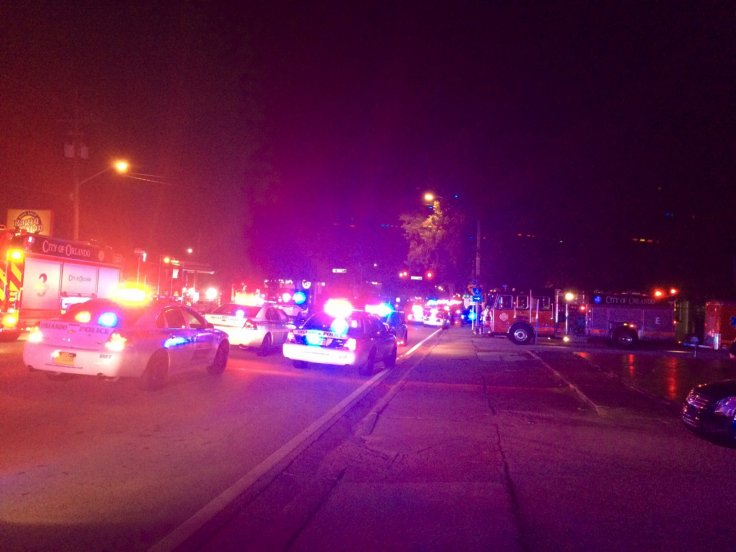 Police cars outside Pulse Orlando