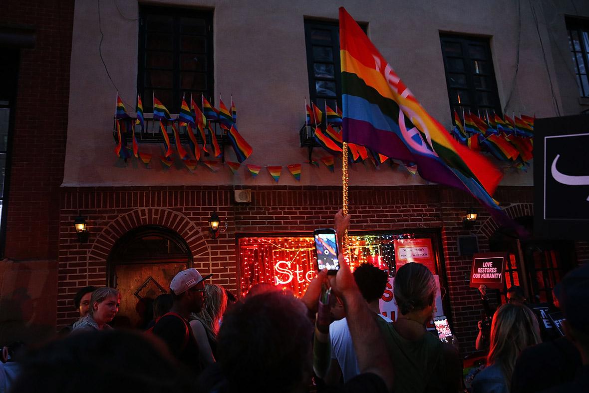 Orlando gay club shooting mourners