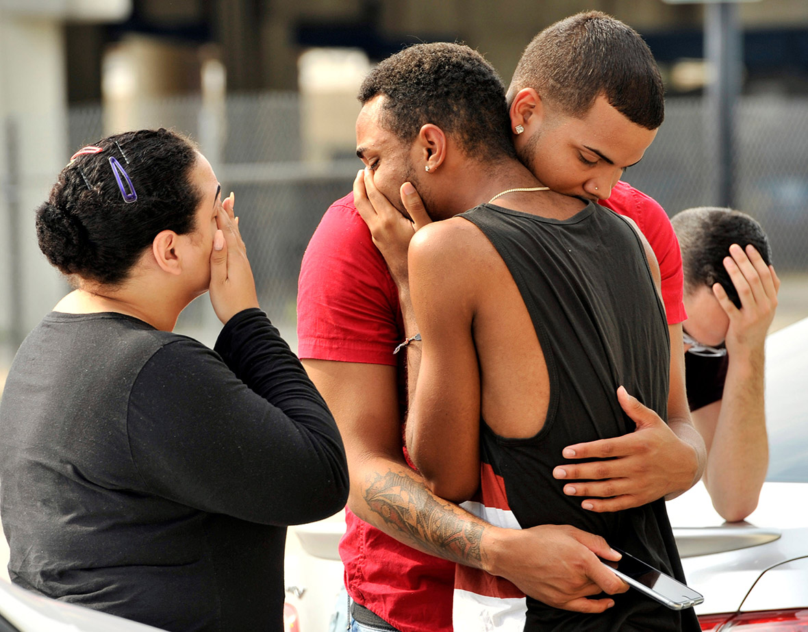 Orlando gay club shooting mourners