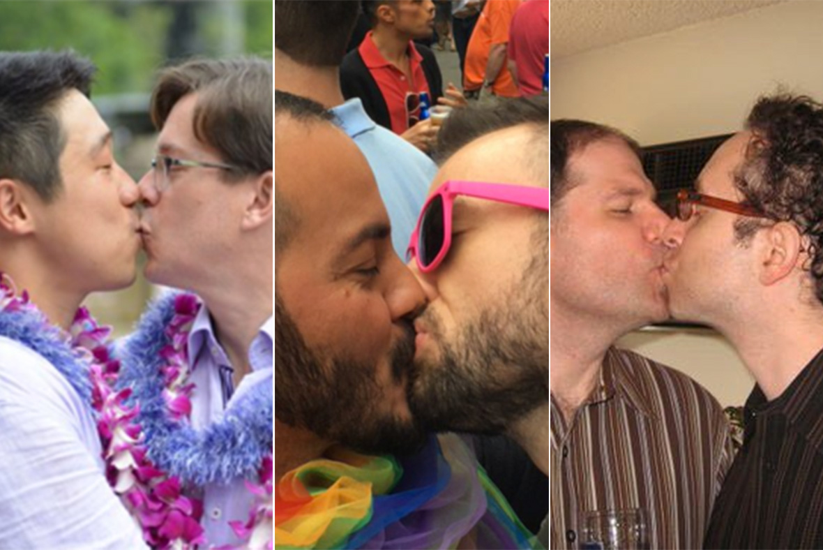 #TwoMenKissing