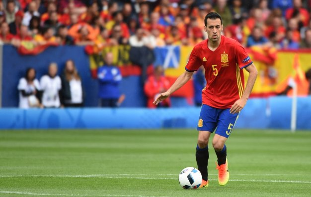 Busquets on the ball