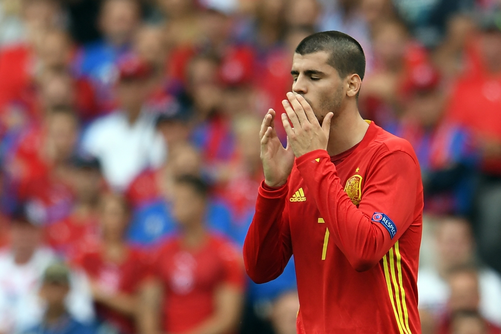 Morata rues a missed chance