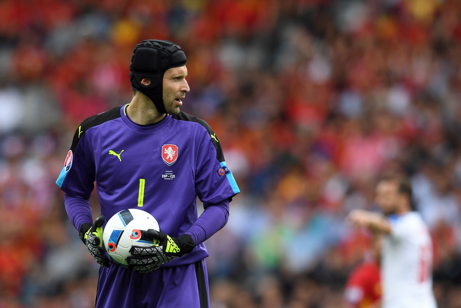 Petr Cech in net for the Czechs