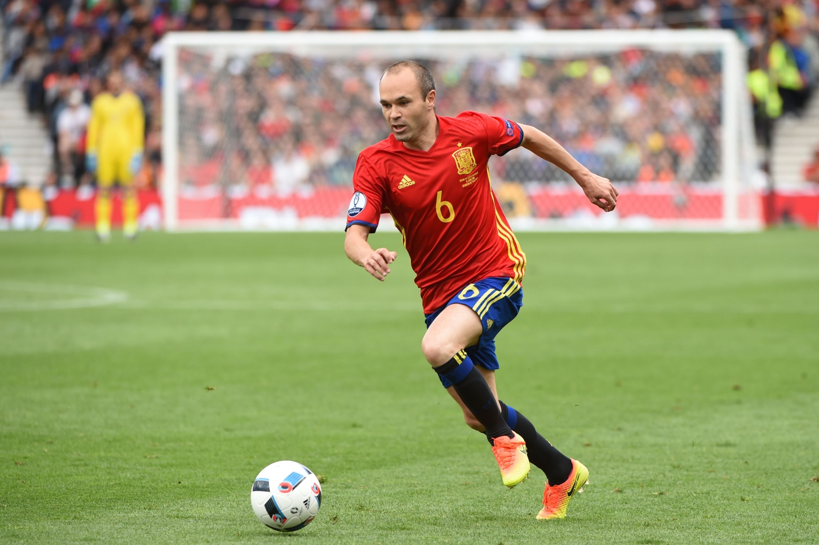 Iniesta dominated the first half
