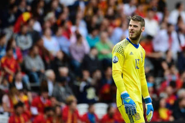 David de Gea was a virtual spectator