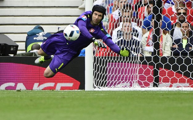 Petr Cech has been kept busy