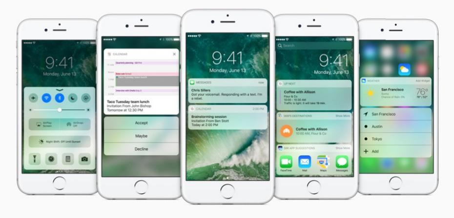 iOS 10 Lockscreen design